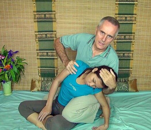 Thai Massage spinal side bend