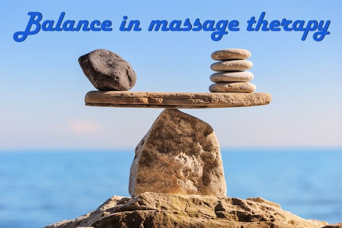 Image of scale - balance in massage therapy