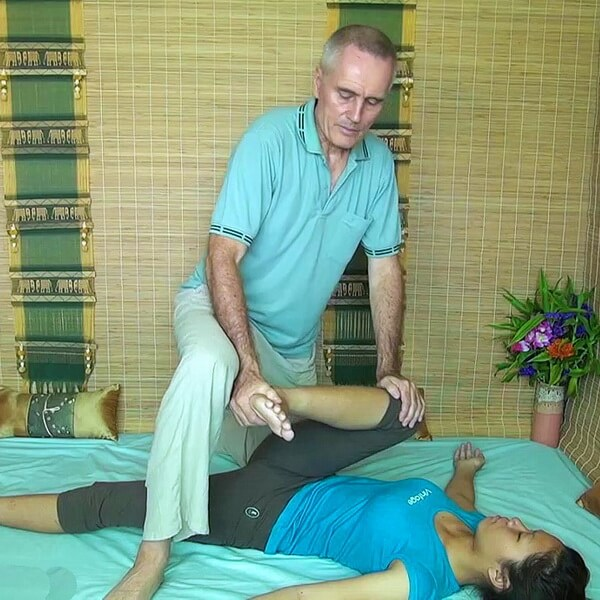 Thai Massage sciatica stretch