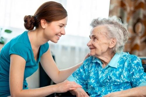 elderly massage client