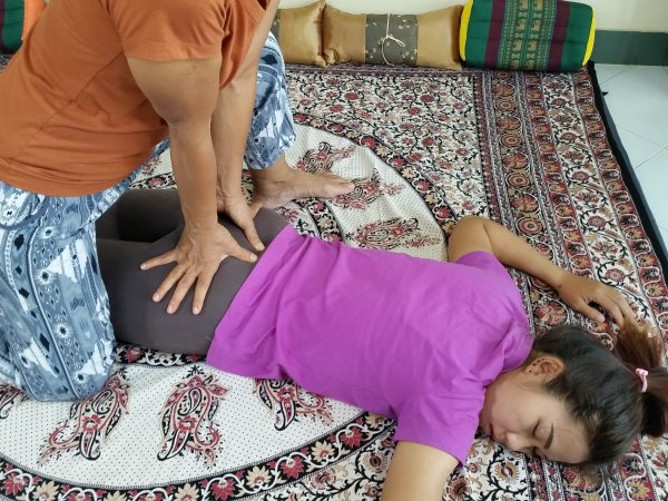 Thai Massage hand work