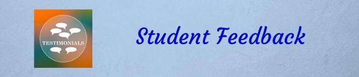 Student feedback banner
