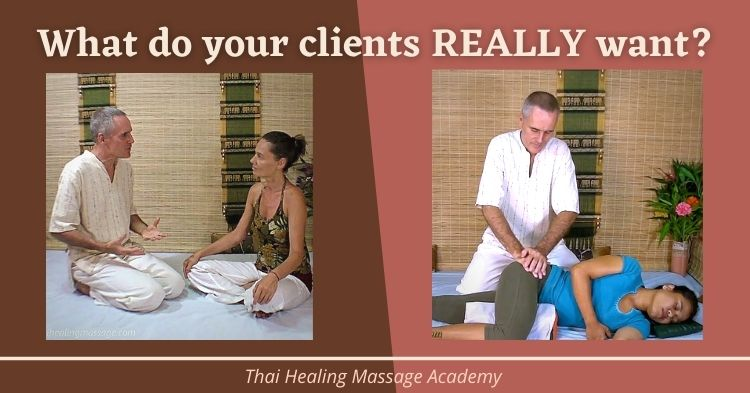 what do massage clients really want