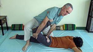 Thai Massage hip flexor stretch